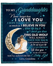 """Never Forget That I LoveU-Grandma To Granddaughter Fleece Blanket - 50"""" x 60"""" front"""