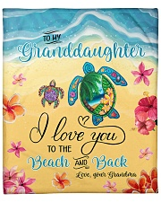 """I Love U To Beach And Back Turtle GM-Granddaughter Fleece Blanket - 50"""" x 60"""" front"""