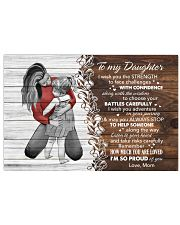 I Wish The Strenght To Face Challenges To Daughter Horizontal Poster tile