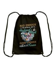Bad Enough To Steal My Husband's Heart Drawstring Bag thumbnail