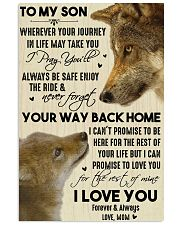 To My Son Your Way Back Home 11x17 Poster front
