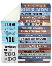 "U Did Not Give Me The Gift Of Life To Bonus Mom Sherpa Fleece Blanket - 50"" x 60"" thumbnail"