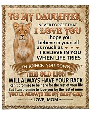 """Never Forget That I Love You-Lion Mom To Daughter Fleece Blanket - 50"""" x 60"""" front"""