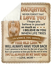 Never Forget That I Love You-Lion Mom To Daughter Sherpa Fleece Blanket tile