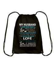 Love The Way My Husband Makes Me Laugh Drawstring Bag tile
