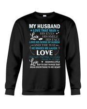 Love The Way My Husband Makes Me Laugh Crewneck Sweatshirt tile