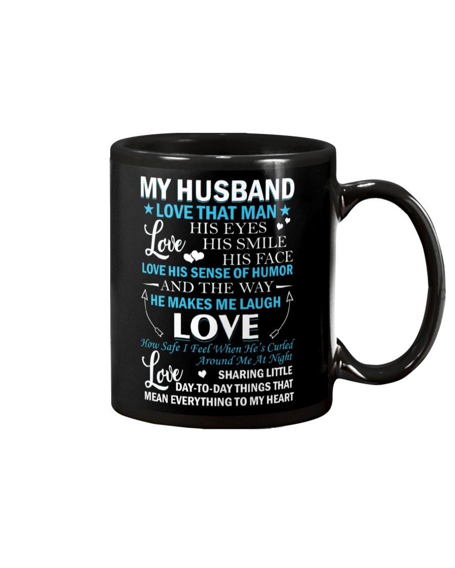Love The Way My Husband Makes Me Laugh Mug