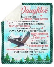 Don't Let Today's Trouble Eagles Dad To Daughter Sherpa Fleece Blanket tile