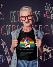 LGBT Unicor Ladies T-Shirt lifestyle-holiday-crewneck-front-3