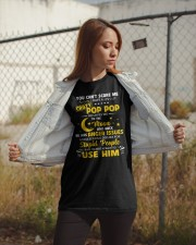 You Can't Scare Me I Have A Crazy Pop Pop Classic T-Shirt apparel-classic-tshirt-lifestyle-07