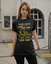 You Can't Scare Me I Have A Crazy Pop Pop Classic T-Shirt apparel-classic-tshirt-lifestyle-19