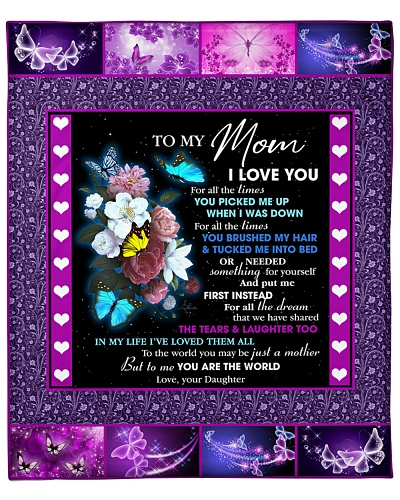 Mom Purple Butterfly You're The World To Me