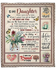 """Once Upon A Time I Asked God Dad To Daughter Fleece Blanket - 50"""" x 60"""" front"""