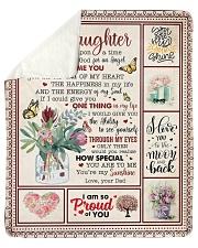 Once Upon A Time I Asked God Dad To Daughter Sherpa Fleece Blanket tile