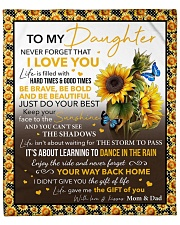 """Never Forget That I Love Sunflower To Daughter Fleece Blanket - 50"""" x 60"""" front"""