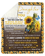 """Never Forget That I Love Sunflower To Daughter Sherpa Fleece Blanket - 50"""" x 60"""" thumbnail"""