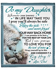 """Whenever Your Journey In Life Dad To  Daughter Fleece Blanket - 50"""" x 60"""" front"""