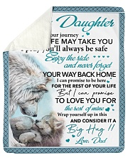 Whenever Your Journey In Life Dad To  Daughter Sherpa Fleece Blanket tile