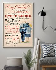 To My Husband I Love You Because You Are My Life 11x17 Poster lifestyle-poster-1