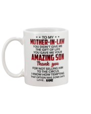 Personalized - U Didn't Give Me To Mother-In-Law Mug back