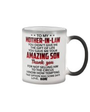 Personalized - U Didn't Give Me To Mother-In-Law Color Changing Mug thumbnail