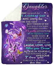 """Today Is A Good Day Dad To Daughter Sherpa Fleece Blanket - 50"""" x 60"""" thumbnail"""