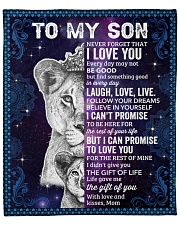 "Never Forget That I Love You Lion Mom To Son Fleece Blanket - 50"" x 60"" front"