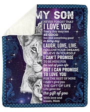 "Never Forget That I Love You Lion Mom To Son Sherpa Fleece Blanket - 50"" x 60"" thumbnail"