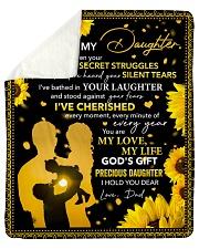 I've Seen Your Secret Struggles Dad To Daughter Sherpa Fleece Blanket tile
