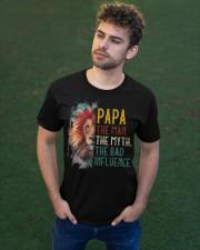 Lion Papa The Man The Myth The Bad Influence Classic T-Shirt apparel-classic-tshirt-lifestyle-front-43