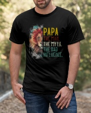 Lion Papa The Man The Myth The Bad Influence Classic T-Shirt apparel-classic-tshirt-lifestyle-front-53