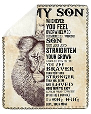 "Son Lion Remember Straighten Your Crown Sherpa Fleece Blanket - 50"" x 60"" thumbnail"