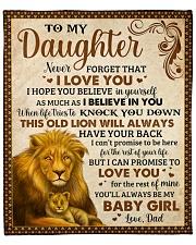 "Never Forget I Love U Lion Dad To Daughter Fleece Blanket - 50"" x 60"" front"