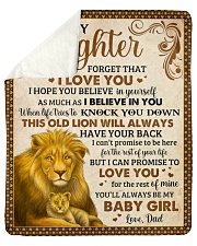 """Never Forget I Love U Lion Dad To Daughter Sherpa Fleece Blanket - 50"""" x 60"""" thumbnail"""