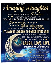 """Amazing Daughter never forget how much I Love You Fleece Blanket - 50"""" x 60"""" front"""