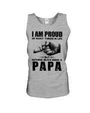I am Pround being a Papa Unisex Tank tile