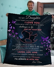 """Daughter I'll always be with you Sherpa Fleece Blanket - 50"""" x 60"""" aos-sherpa-fleece-blanket-50x60-lifestyle-front-05"""