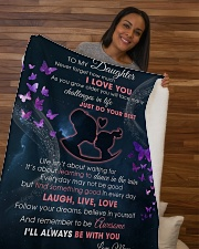 """Daughter I'll always be with you Sherpa Fleece Blanket - 50"""" x 60"""" aos-sherpa-fleece-blanket-50x60-lifestyle-front-09b"""