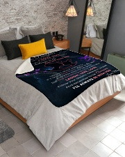 """Daughter I'll always be with you Sherpa Fleece Blanket - 50"""" x 60"""" aos-sherpa-fleece-blanket-lifestyle-front-02"""