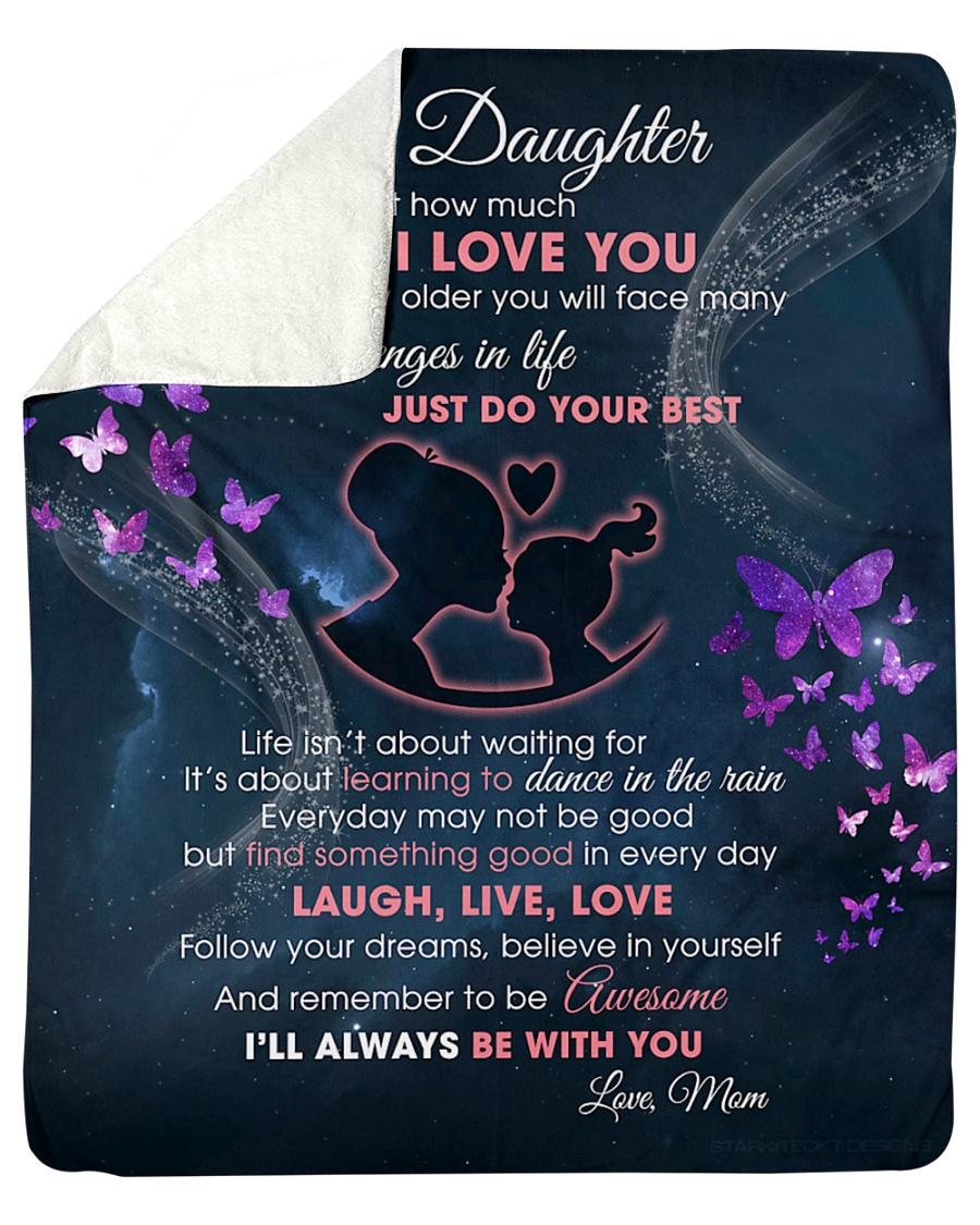 """Daughter I'll always be with you Sherpa Fleece Blanket - 50"""" x 60"""""""