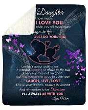 """Daughter I'll always be with you Sherpa Fleece Blanket - 50"""" x 60"""" front"""