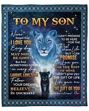 "Lion- Never 4get that I Love U Mom-To-Son Fleece Blanket - 50"" x 60"" front"
