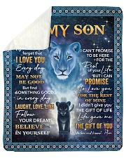 Lion- Never 4get that I Love U Mom-To-Son Sherpa Fleece Blanket tile