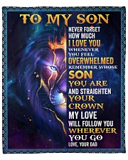 """Never Forget How Much I Love U Lion Dad To Son Fleece Blanket - 50"""" x 60"""" front"""