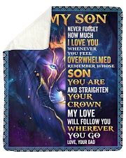 Never Forget How Much I Love U Lion Dad To Son Sherpa Fleece Blanket tile