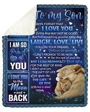 """Never Forget That I Love U Lion Mom To Son Sherpa Fleece Blanket - 50"""" x 60"""" thumbnail"""