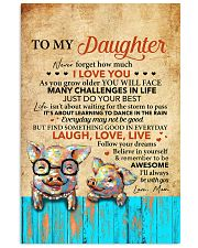 Never Forget How Much I Love U Pig Mom To Daughter 11x17 Poster front
