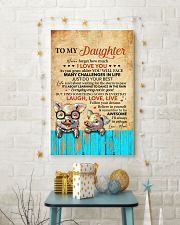 Never Forget How Much I Love U Pig Mom To Daughter 11x17 Poster lifestyle-holiday-poster-3