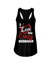 I Love My Crazy Husband Ladies Flowy Tank tile