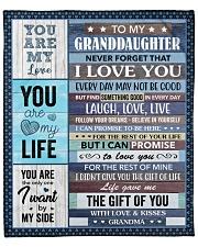 "Never Forget That I Love U To Granddaughter Fleece Blanket - 50"" x 60"" front"